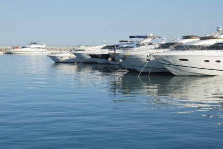 nautic: Yachts in a harbour in Marbella, Spain
