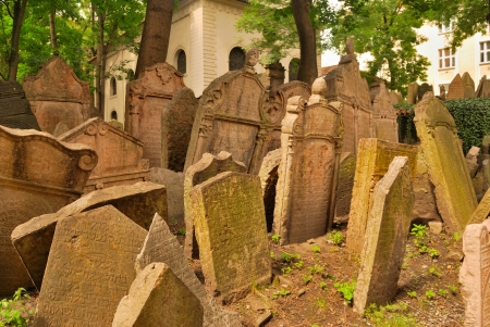 Old Jewish cemetery in Prague, europe Stock Photo - 16760827