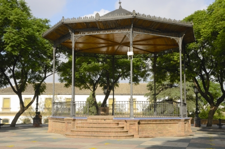 singular architecture: Kiosk in park located in Jerez de la Frontera, Spain
