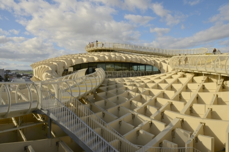 Walk in the Metropol Parasol, January 22-2013, Sevilla (Spain)