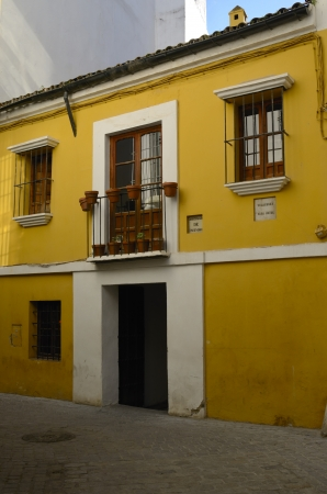 velazquez: Birthplace of the painter Velazquez in Seville, Spain