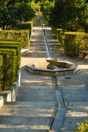 waterway: Waterway in the Alcazar Palace, Seville, Spain