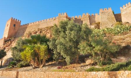 Alcazaba, an old muslim construction in Almeria, Spain