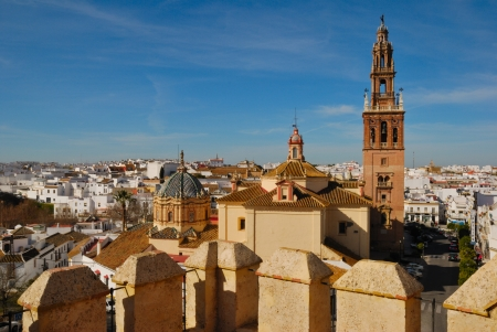 carmona: View of Carmona seen from the Alcazar, Andalusia, Spain Stock Photo