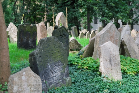 The Old Jewish Cemetery in Prague, Europe
