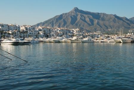 Puerto Banus  Banus port  located in Marbella  spain