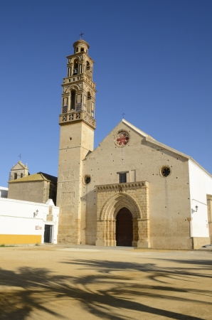 typology: This church located in Marchena, stands in the fourteenth century , about the year 1356 , following the typology marked by Gothic-Mudejar churches of Seville, Spain