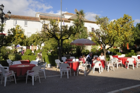 urbanistic: After recapturing Marbella, Spain, from the Moors, the Christians took the urbanistic task of building up what was to be the urban and social centre of the town: The Orange Tree Square which was the city�s key point and the noble zone of social life. Editorial