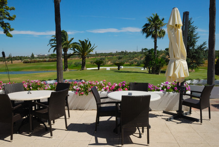 Snack bar in golf course in Andalusia, Spain