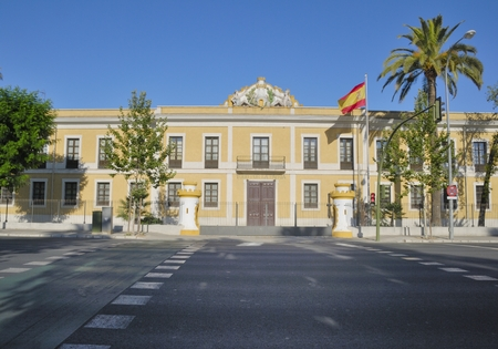 barrack: Military barrack located in Seville  Spain