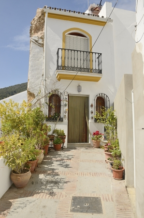 pictoresque: White Traditional house un Ojn, Andalusia, Spain