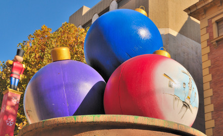 giant christmas balls for decoration in the city of cordoba spain stock photo 28435251 - Giant Christmas Balls