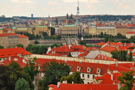 View of the city of Prague in the Czech Republic photo