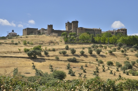 toledo town: The castle in Oropesa, a Spanish town in the province of Toledo.