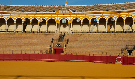 bullring: Bullring in the city of Seville, Spain. Editorial