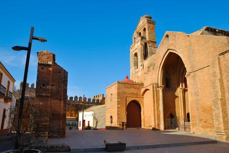 huelva: Square in Niebla, a village of the province of Huelva, Spain