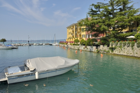 The hotel Sirmione in Sirmione, a village located in the south of the Lake Garda, Italy.