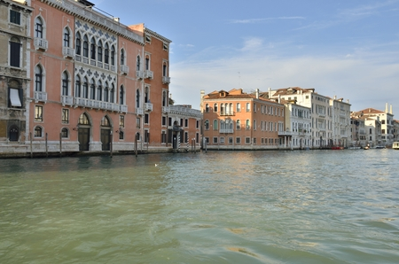 Beautifula houses in  the Grand Canal, Venice, Italy.