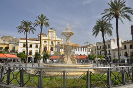 Spain Square in the city of Merida, Spain