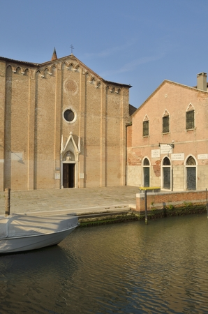 adjacent: San Alvise church in the district  of Cannaregio in Venice, northern Italy. It is located next to an adjacent convent. Stock Photo