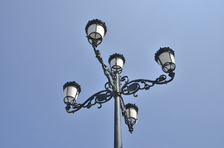 andalusian: Iron lamp street in Andalusian village, Spain