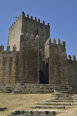 guimaraes: The Castle of Guimaraes,   in the northern region of Portugal. It was built at the end of the 13th century, following French influences.