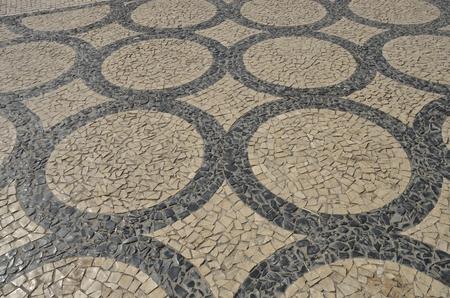 portuguese: Typical portuguese pavement in Porto, Portugal