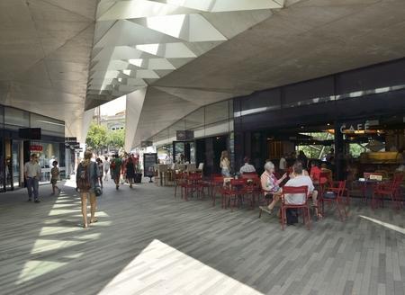 comercial: Comercial center next to the Cleigos Tower in Porto, portugal Editorial