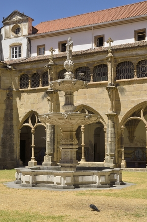cloister: Cloister of the Church of Saint Cross in the city of Coimbra, Portugal
