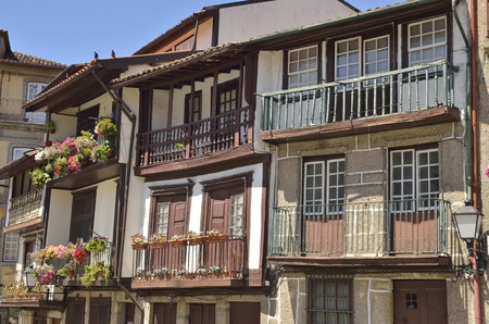 guimaraes: Traditional houses of the historical center of Guimaraes.