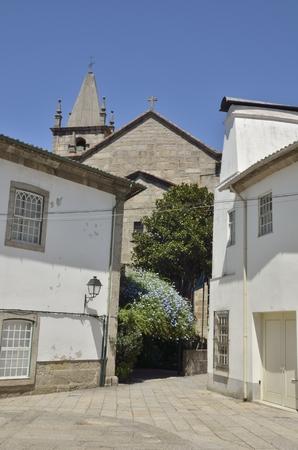 guimaraes: Littele church in a street of  Guimaraes, Portugal. Stock Photo