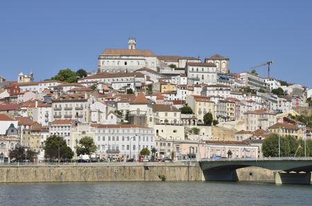 The city over the river Mondego in Coimbra, Portugal