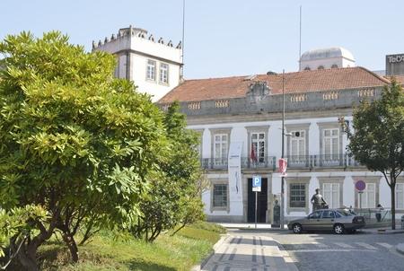 carlos: Palace  dos Viscondes de Balsemao in Carlos Alberto plaza in Porto, Portugal. Editorial