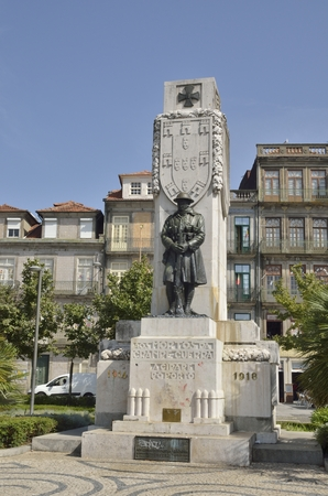 homage: Monument in homage to First world war in a square of Porto, Portugal