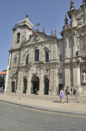 carmo: People in front of the Carmelitas church, just next to the Carmo church in Porto, Portugal