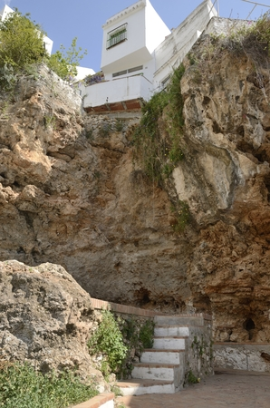 cave house: House built over cave in Ojen, Andalucia, Spain