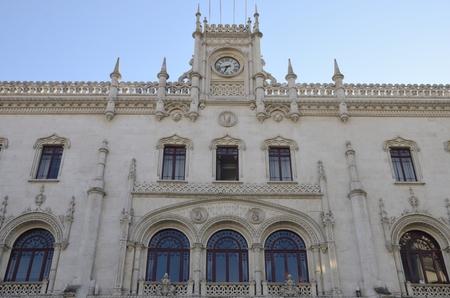 Railway Station at Rossio Square, Lisbon, Portugal
