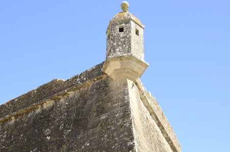 Watchtower in the fort of Valenca do Minho in Portugal.