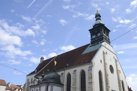 giles: Church Cathedral dedicated to Saint Giles in Graz,  the capital of federal state of Styria, Austria.
