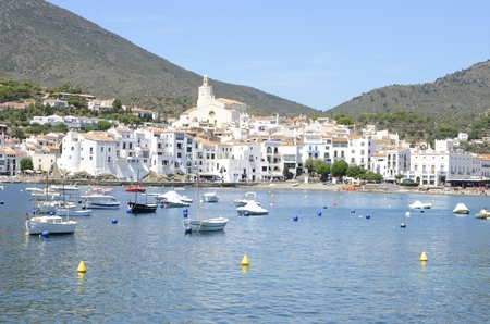 Beautiful view of Cadaques, a coastal village in the province of Girona, Catalonia, Spain.