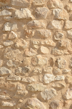 Background of stone on wall  of windmill  in Belmonte, a village in  the province of Cuenca, Castile-La Mancha, Spain.