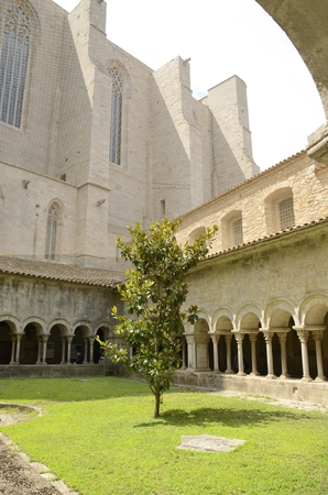 northeastern: Patio of  cathedral of Girona,  Catalonia, northeastern Spain.
