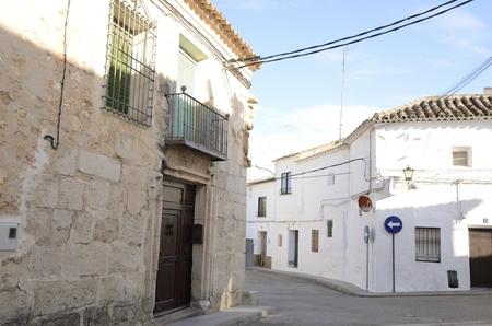 Street of Belmonte village, province of Cuenca, Spain. Stock Photo