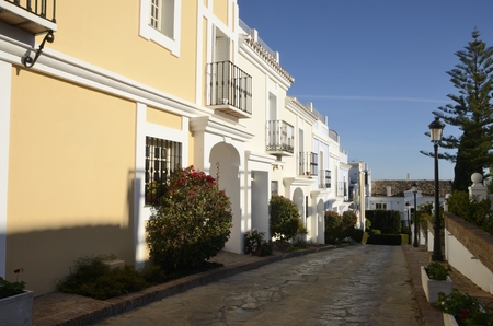 Street in the  city of Marbella, Andalusia, Spain.