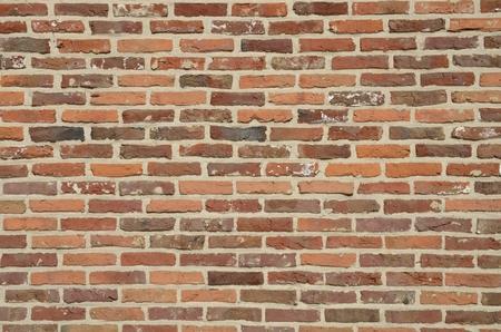 Brick wall of building  in Leuven, Belgium. Stockfoto