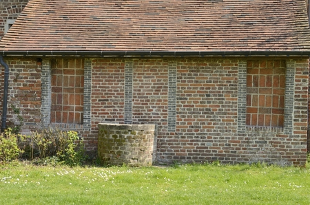 Brick house at the Great  Beguinage in Leuven, Belgium. Stockfoto