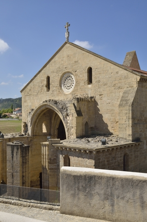 Ruins of monastery of Saint Clare the Older in the city of Coimbra, in Portugal.