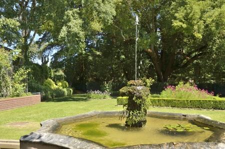 Fountain in gardens of Coimbra, Portugal Stock Photo