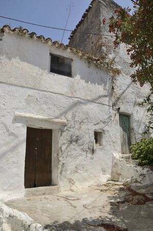 Old house in Casares, a  mountain village of Malaga province, Andalusia, Spain.