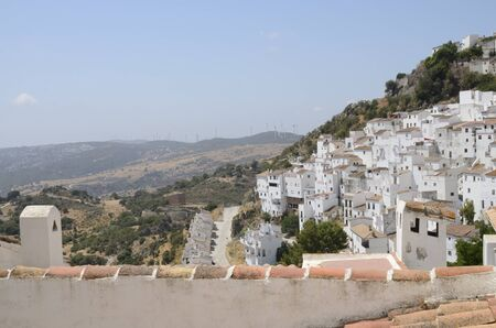 View of Casares, a  mountain village of Malaga province, Andalusia, Spain.